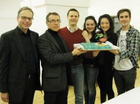 Premierenfeier (Rot, Simma, Klein, Borodyanska, Hara, Burtscher)