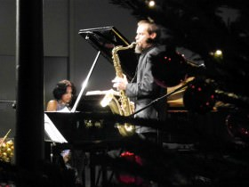 Marialena Fernandes: Klavier, Peter Natterer: Saxophon, © K. Matzka