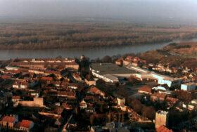 Lage der Tabakfabrik Hainburg, Dezember 1987