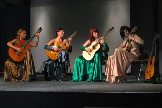 Oktober 2012, guitArtistas (Wild, Langöcker, Filová, Cendelínová)